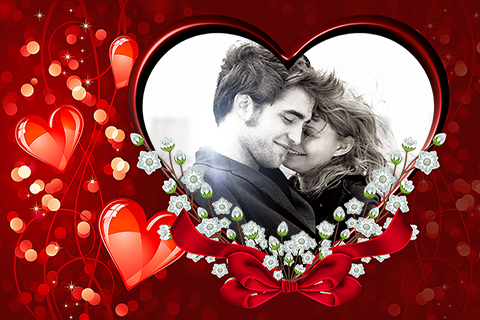 happy valentines photo frames screenshot