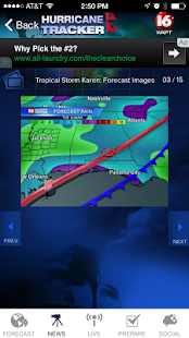 Hurricane Tracker 16 WAPT News - screenshot thumbnail