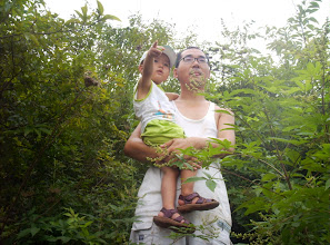Photo: my dad and me on the Mount. houbei.