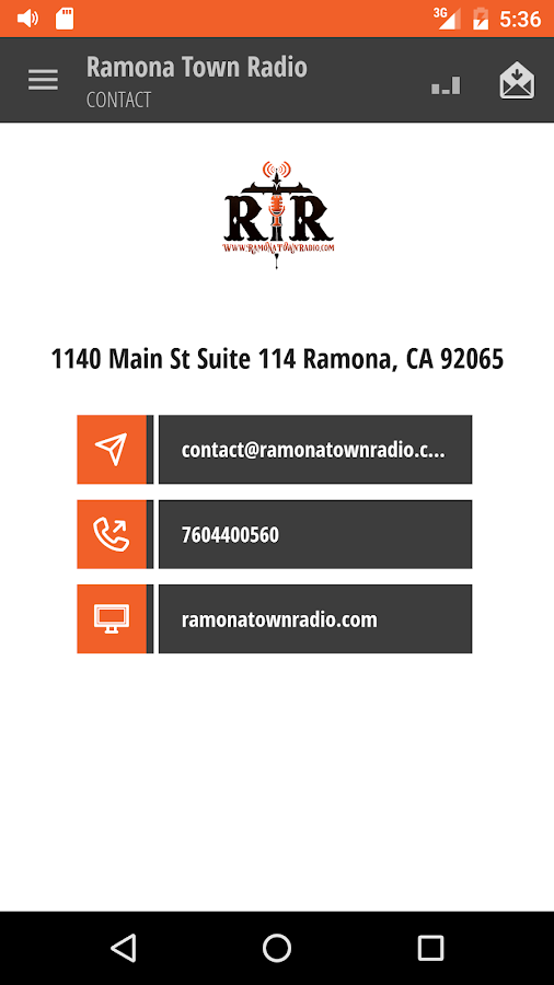 Ramona Town Radio- screenshot