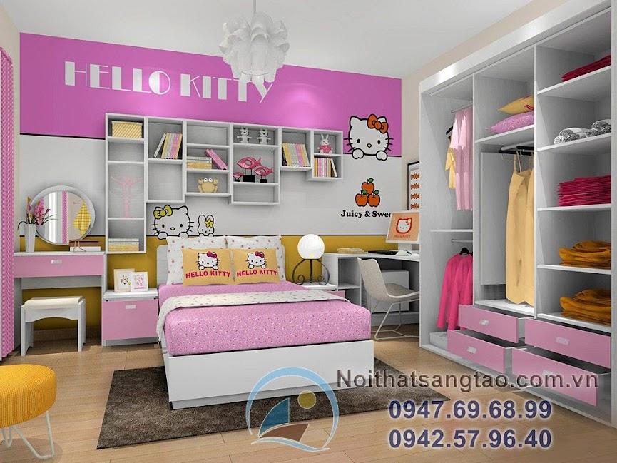 thiết kế phòng ngủ bé gái đẹp 7