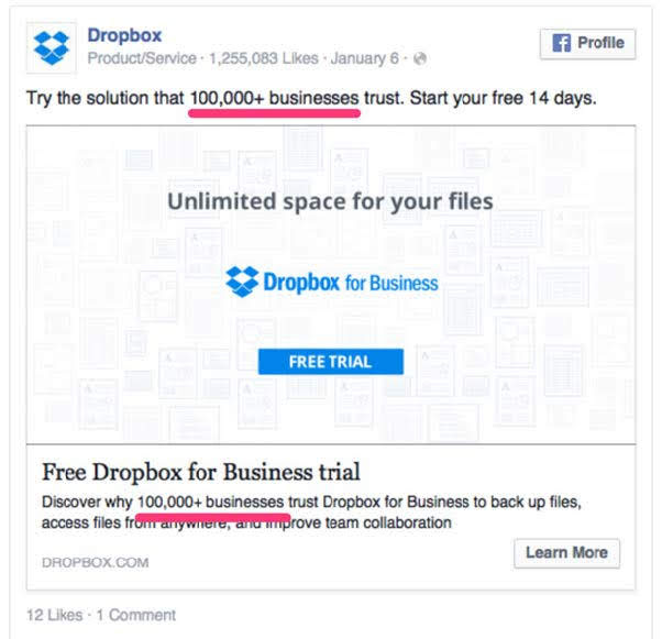 Dropbox, a cloud storage service. Source: HubSpot