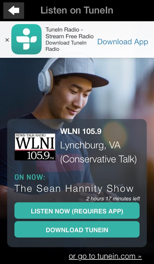 WLNI 105.9FM Lynchburg- screenshot