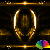 Alien Gold Xperien Theme