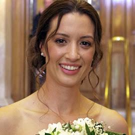 Happy! by Ingrid Anderson-Riley - Wedding Bride