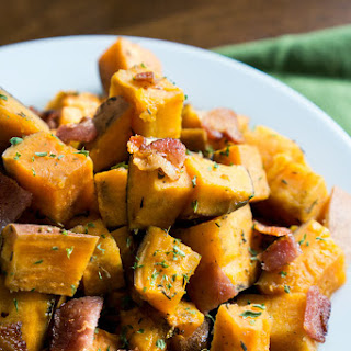 Slow Cooker Sweet Potatoes with Bacon