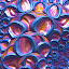 Bubble Wrap Fractal by Pam Blackstone - Illustration Abstract & Patterns ( orange, circles, spirals, blue, bubbles, pink, bubble wrap, rings, fractal,  )