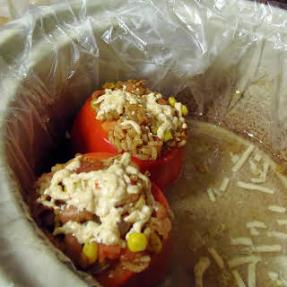 Slow Cooker Stuffed Bell Peppers.