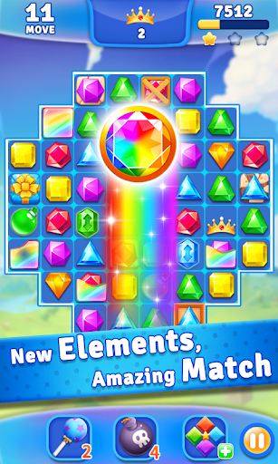 Jewel Crush - Jewels & Gems Match 3 Legend 2.1.1 screenshots 2