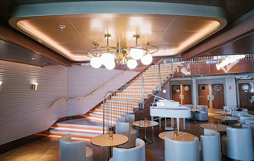 Scarlet-Lady-staircase.jpg - Scarlet Lady was designed with touches that resemble a superyacht.