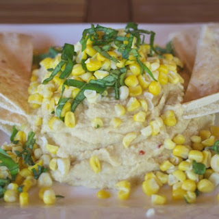 Fresh Corn & Basil Hummus