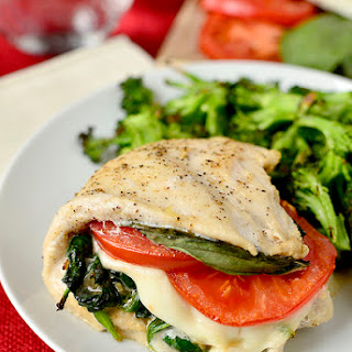 Caprese Stuffed Chicken.