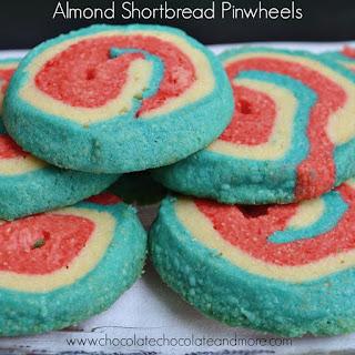 Almond Shortbread Pinwheels
