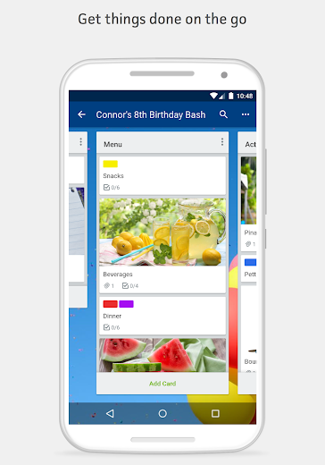 Screenshot 3 for Trello's Android app'