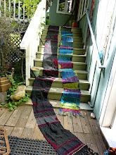 Photo: my Friend and student  Sue Tye's beautiful saori weavings