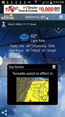 WBAL-TV 11 Weather - screenshot