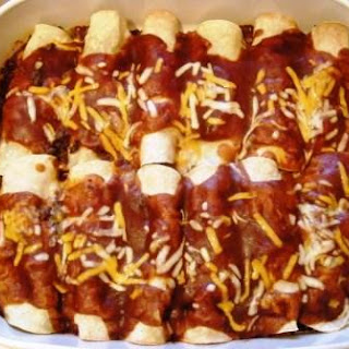 Easy Beef Enchiladas.