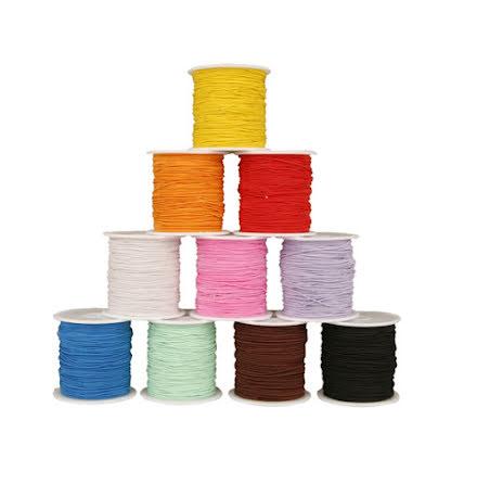 Elastisk tråd 25m 10färger/fp
