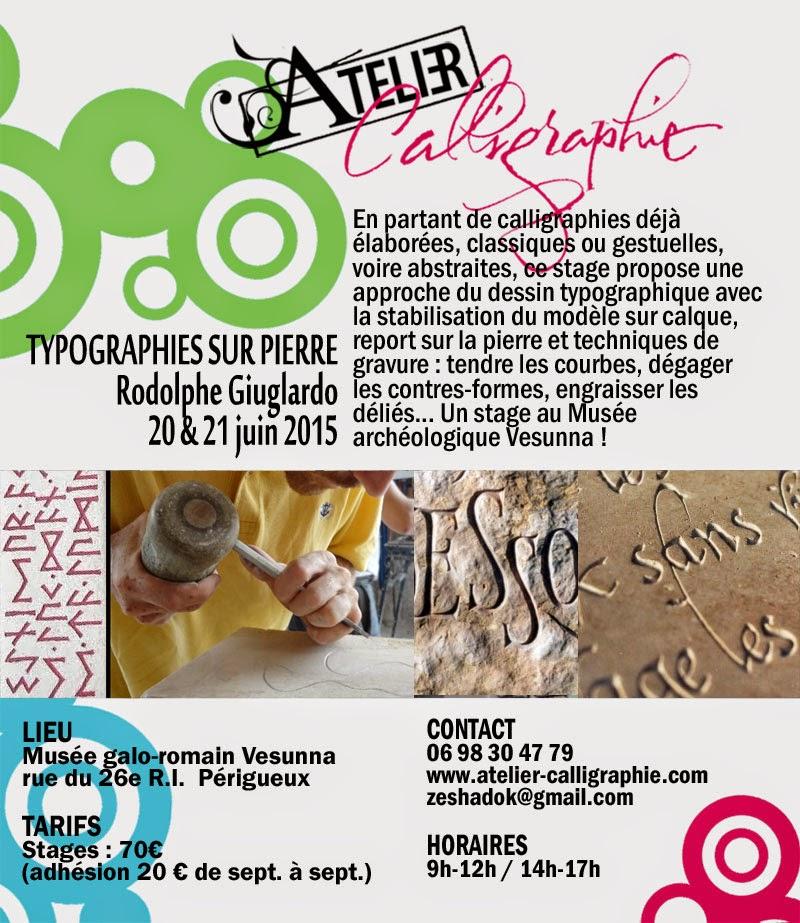 Photo: >> Typographies sur pierre Rodolphe Giuglardo