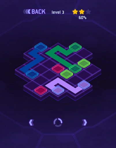 Cyber Dots : flow lines game
