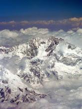 Photo: Es ist wolkiger über dem Himalaya aber trotzdem wieder beiindruckend.