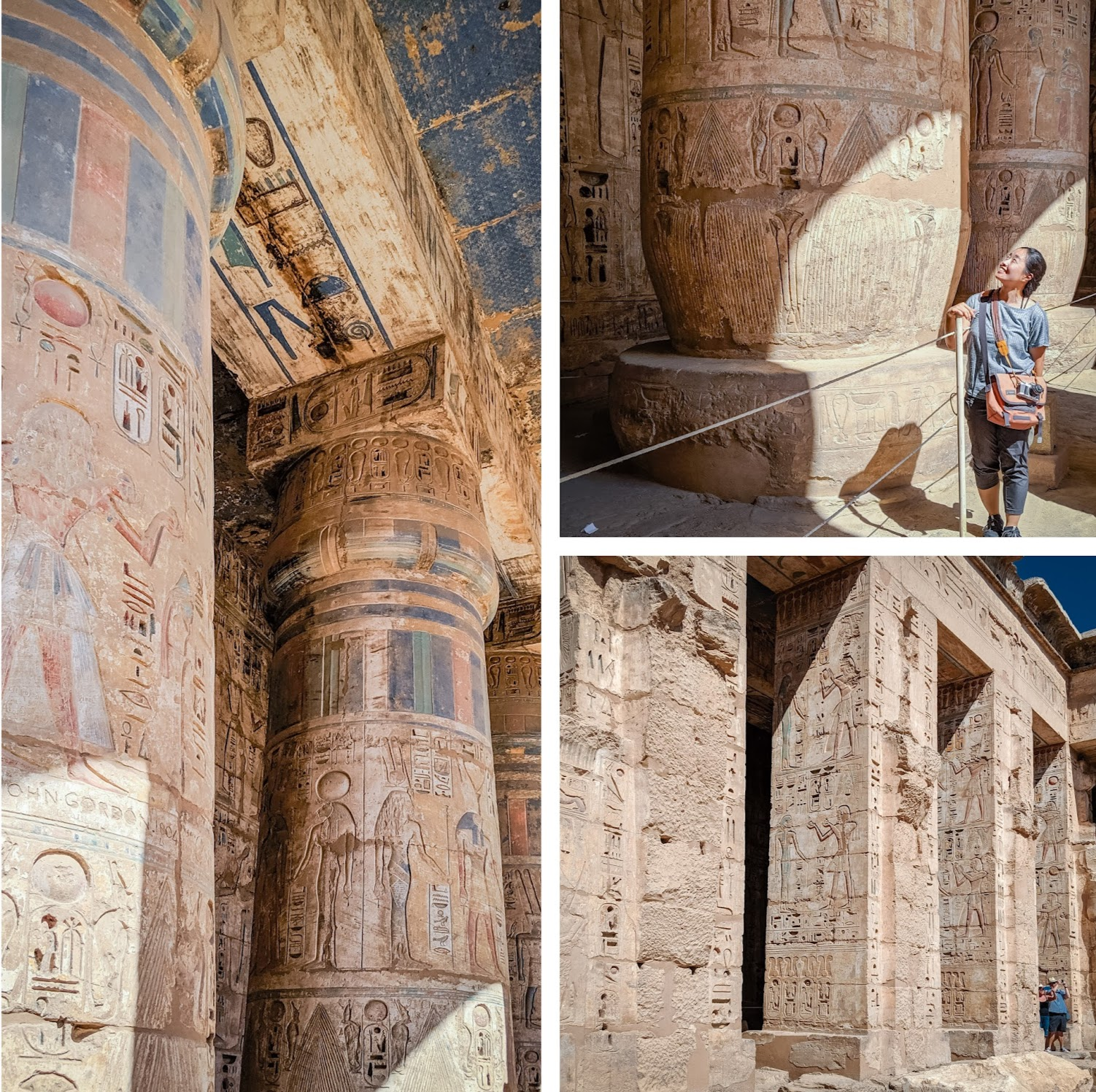 The carvings of Medinat Habu temple