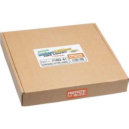Rhinodillos Tire Liner: 700x23-25 Orange, Packaged in Bulk Box of 10