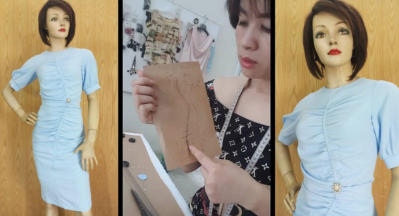 Chia sẻ về Váy ôm body kiểu xếp nhún chun
