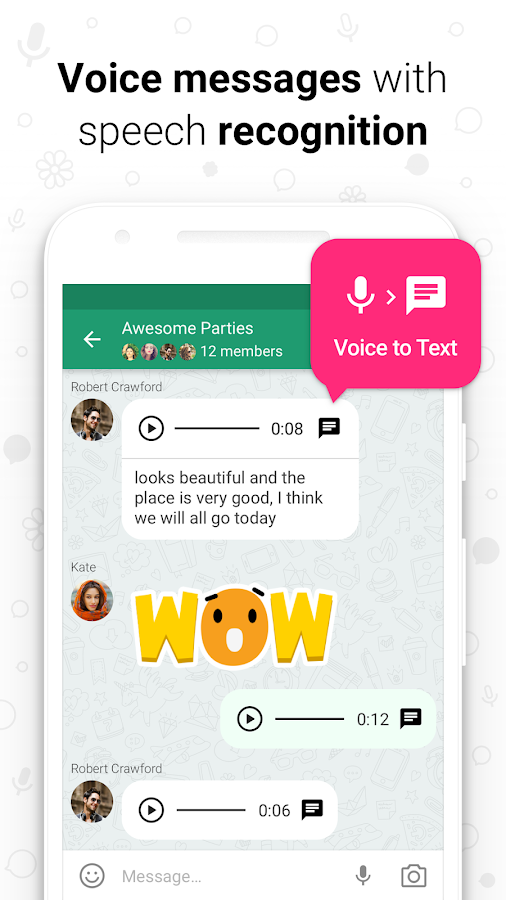 Screenshots of icq video calls & chat for Android