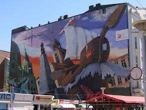 Photo: Największe graffiti na świecie - umieszczone na ścianie o powierzchni ponad 900 m kw. przy ul. Piotrkowskiej 152. Rekord wpisany został do Księgi Rekordów Guinnessa