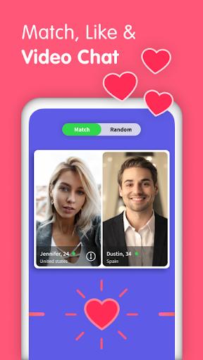 Gaze Video Chat App-Random Live Chat & Meet People screenshot 1