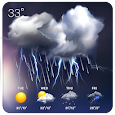 monthly weather&precipitation icon