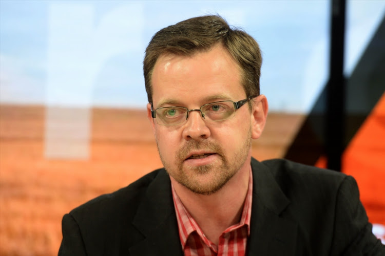 AfriForum deputy CEO Ernst Roets during a media briefing announcing the organisation's response to the land expropriation bill compensation on March 19, 2018 in Centurion, South Africa.