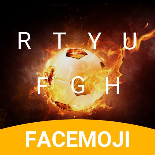 Flaming Football Emoji Keyboard Theme for samsung
