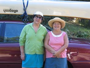 Photo: Irma and Linda at the start of our trip