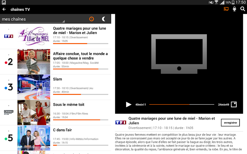 TV d'Orange, live-replay-vod Screenshot 9