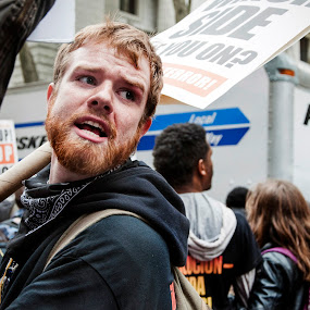 Protester by Grace Harney - People Street & Candids ( riseupoctober, emotion )