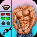 Men Body Builder Photo Editor : SixPack tattoo App icon