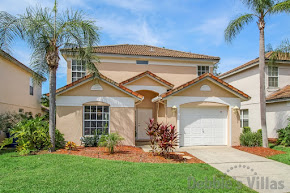 Orlando villa, gated community, private pool with golf course views