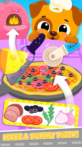 Screenshot for Cute & Tiny Food Trucks - Cooking with Baby Pets in United States Play Store