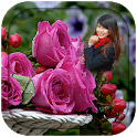 Pink Rose Photo Frames icon