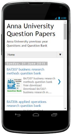 Anna University Questions