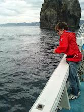 """Photo: 「きたーっ!」は、初乗船の""""マニワさん""""! 「・・・あああーっ!バレたー!」 「あと5mぐらいやったとにー!」"""
