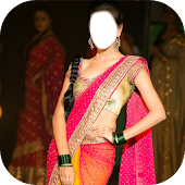 Women Saree Photo Making