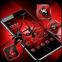 Red Dark Black Spider Launcher Theme 🕷️🕸️ icon