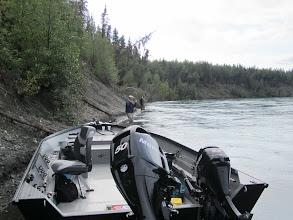 Photo: Fly fishing for sockeye salmon on the Kenai river. Alaska Drift Away Fishing uses 20 ft power boats for all of there sockeye salmon trips.