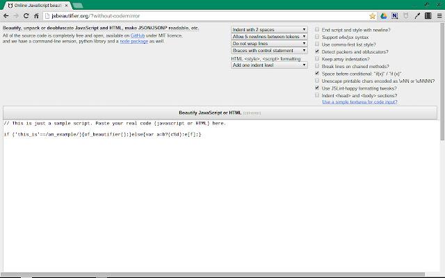 JS Beautifier settings tweaks