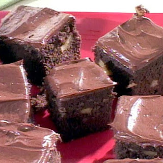 Low Carb Double Chocolate Walnut Brownies.