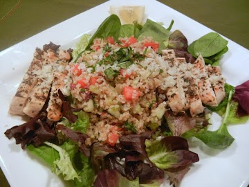 Grilled Chicken And Lemon Parmesan Tabouleh Salad Recipe