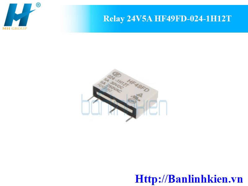 Relay 24V5A HF49FD-024-1H12T